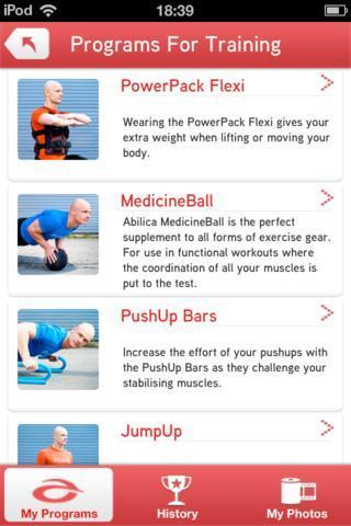 Abilica  træning app
