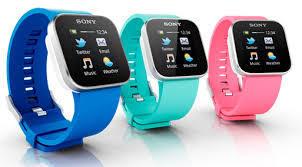 sony smartwatch i forskellige farve modeller