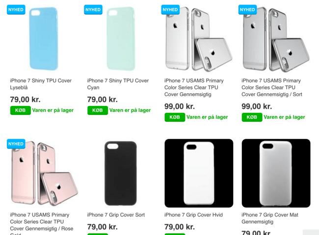 iPhone 7 Covers sælges allerede nu